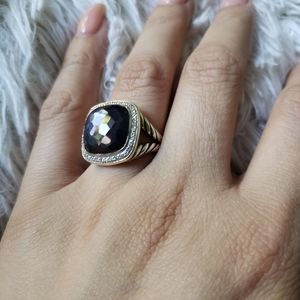 New Albion black orchid ring
